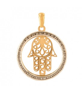 Hand of Fatima pendant with zirconia