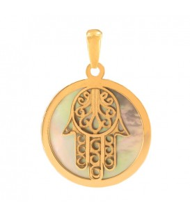 Hand of Fatima mother-of-pearl - oro18k