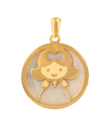 Communion pendant for 18k gold girl