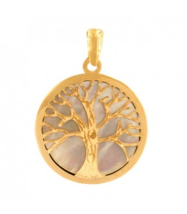 Colgante árbol de la vida Oro y nácar