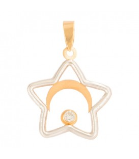 18K White Gold Star Pendant