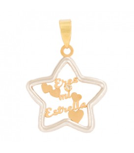 "White Gold Pendant 18K ""You Are My Star"""