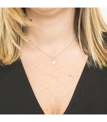 Bicolor Gold Heart Pendant