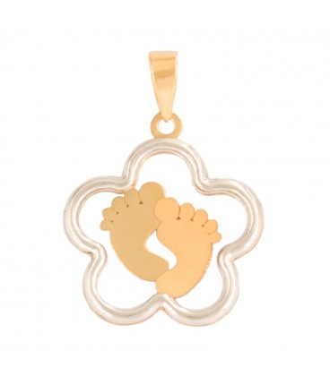 Steps Pendant in 18K Bicolor Gold