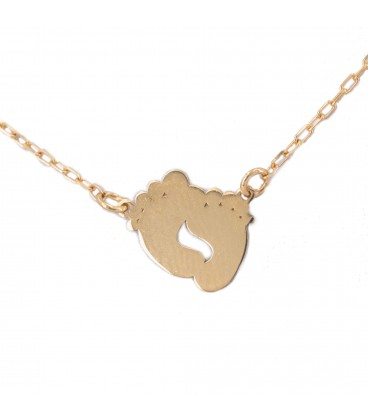 Baby feet necklace in 18k gold