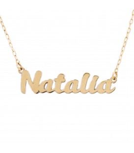 Custom name choker in 18K Gold