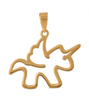Unicorn Pendant in 18K Gold