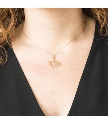 Golden Unicorn Pendant