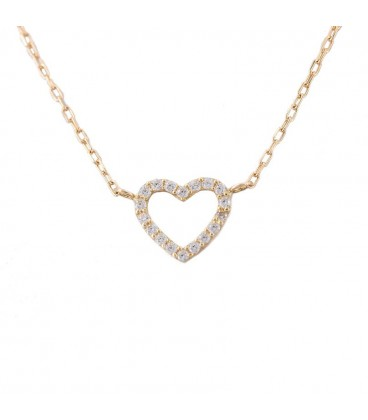 18K Heart of Gold necklace with Zirconia
