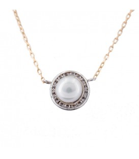 Pearl Natural Necklace in White Gold 18K