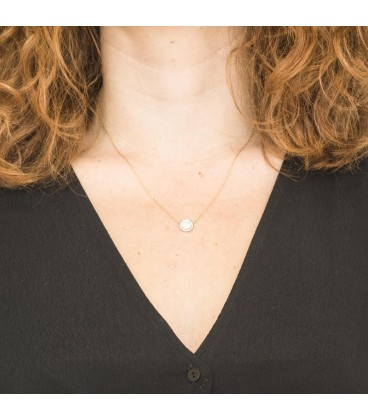 Collier ras du cou Illuminer Or Blanc 18K