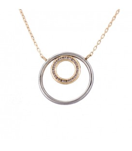 Circular Choker in Bicolor Gold 18K