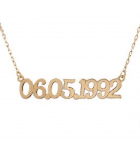 Custom Date in Gold - Horizontal