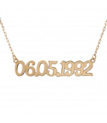 Date personnalisée en or - horizontale