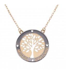 Custom Tree of Life Necklace in Bicolor Gold 18K