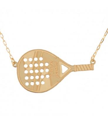 Necklace I Love paddel Gold 18K