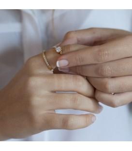 Zirconite Gold Ring