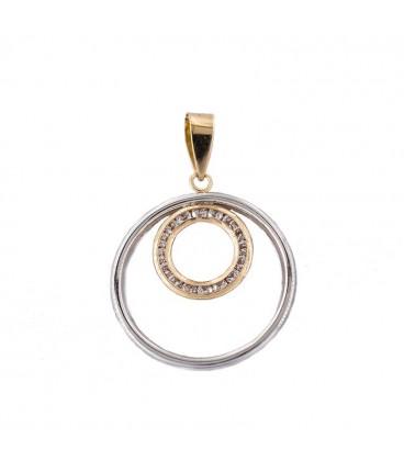 Colgante Circular en Oro Bicolor 18K