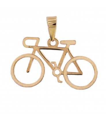 18K Gold Bike Pendant