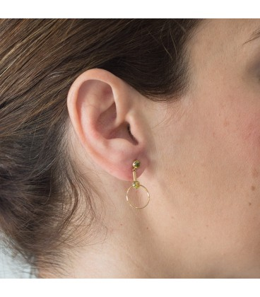 Green Woman Gold Earring