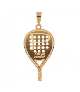 18K gold Paddle racket