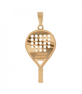 Racket padel pendant in 18K gold