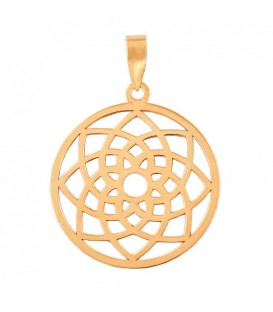 Roseton pendant in 18K Gold