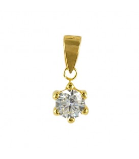 Gold pendant with 6mm zirconite