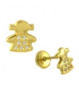 Girls' earrings and zirconia
