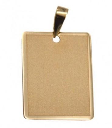 Placa de oro para grabar