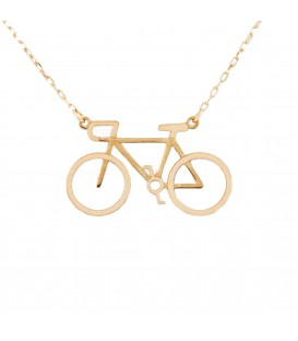 18K Gold Bike Necklace