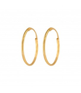Small 18K Gold Smooth Hoop Earrings