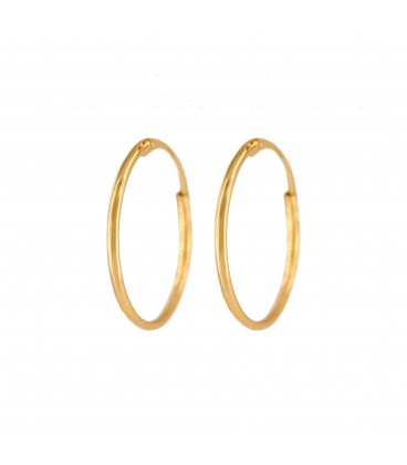 18K Gold Small Smooth Hoop Earrings