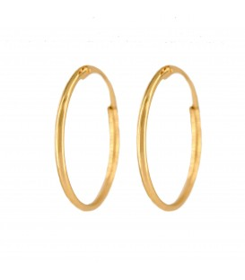 Gold Hoop Earrings 12mm