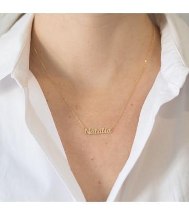 gargantilla oro con nombre