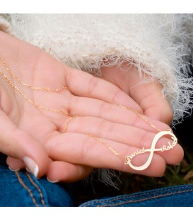 Collier ras du cou Or 18K personnalisable infini