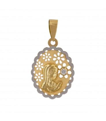 Médaille de communion vierge fille