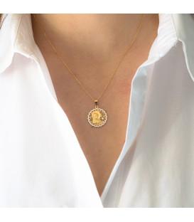 Medalla de comunión virgen oro