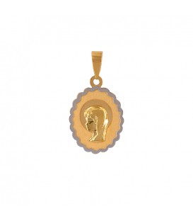 Virgin Girl Communion Pendant in Gold 18K