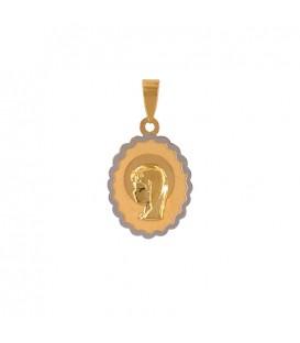 Virgin Girl Communion Pendant in Gold 18K