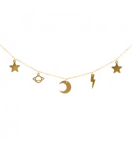 "Choker charms stars ""Galaxy"""