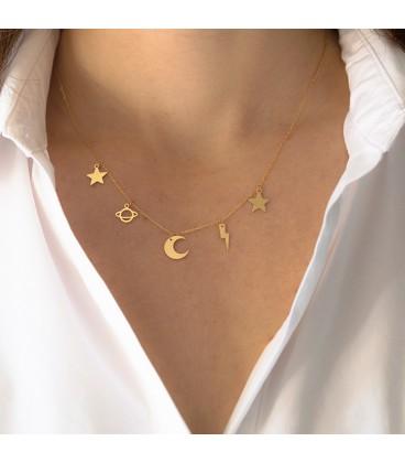 "Choker charms stars ""Galaxy"""