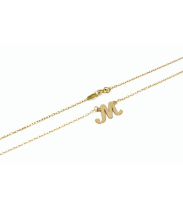 Gold Initial Necklace in Italics