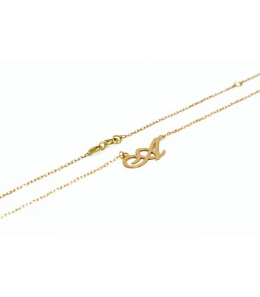 18k Italic Gold Initial necklace