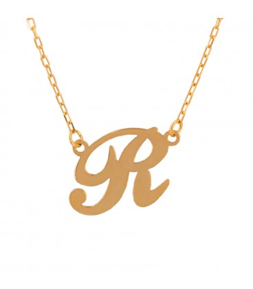 Gold Initial Choker in Custom Italic