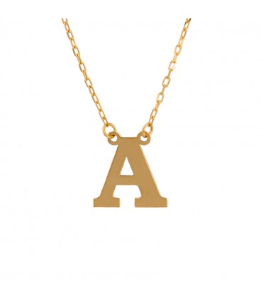 Pendant with initial in 18k gold