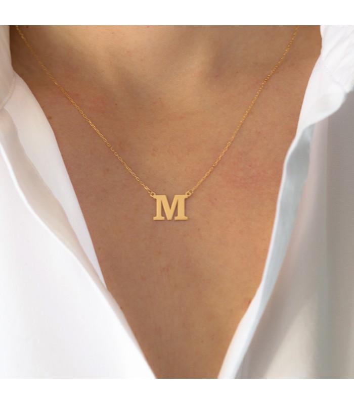 collier ras de cou initiale