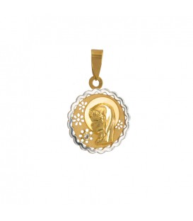 Médaille Or Communion Fille Bicolore