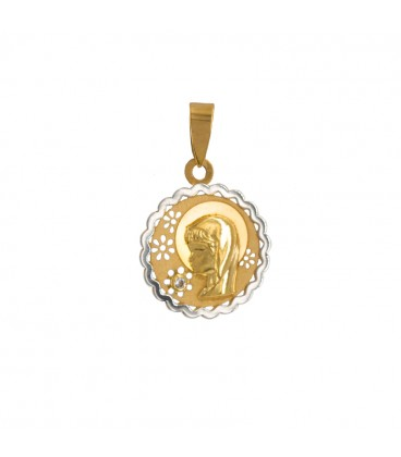 Medal Gold Communion Girl Bicolor