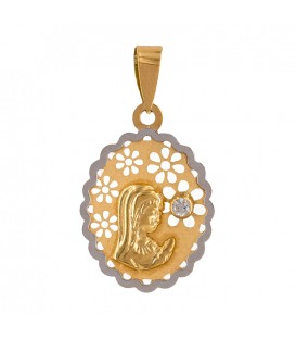 Virgin Pendant with Big Zirconite